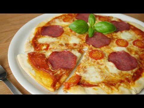Blitz Pizza OHNE Hefe I Fertig in 25 Minuten I Teig, Sauce und Belag