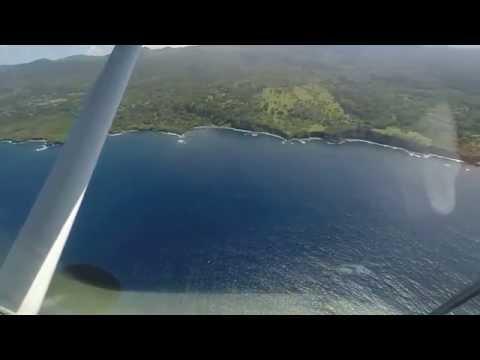 Leaving Travaasa. Flying from Hana to Kahului Maui on Mokulele Airlines.