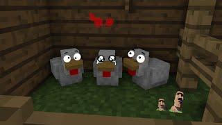 Печальная история про куриц Анимация Minecraft