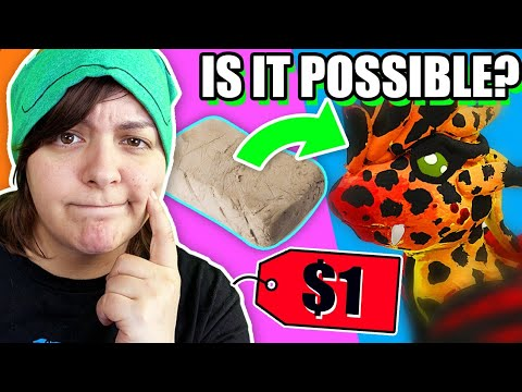 WHY DID I DO THIS?? Trying Dollar Store DIY Craft Challenge Natural Clay For the First Time