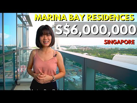 Singapore Condo Property 𝘾𝙊𝙉𝘿𝙊 Home Tour [SGD$6Mil] - Marina Bay Residences 3 Bedder, For Sale