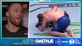 """You made your dad proud"" Justin Gaethje reveals what he said to Khabib while crying on the floor ♥️"