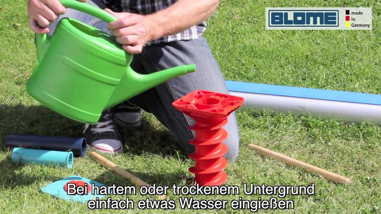 blome eindreh bodenschraube gardenfix youtube