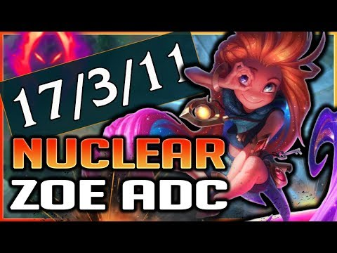 THE MOST EXPLOSIVE BUILD EVER!? NEW NUCLEAR ZOE ADC GAMEPLAY