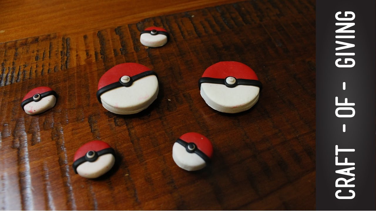 Papercraft DIY Polymer Clay Poké Ball  | Craft of Giving