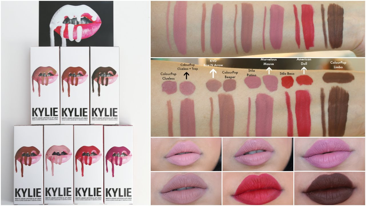 Bien connu Kylie Cosmetics Lip Kit Lip Swatches on brown skin, Dupes  GB11