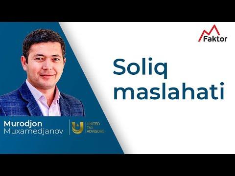 Soliq Maslahati | Murod Muxamedjanov