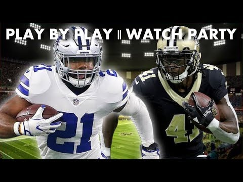 LIVE STREAM: Cowboys Vs. Saints || 1st Half Watch Party || Play By Play