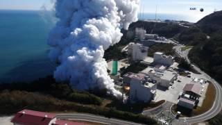 [KARI]한국형발사체 75톤급 엔진 2호기 145초 연소시험 헬리캠 영상 이미지