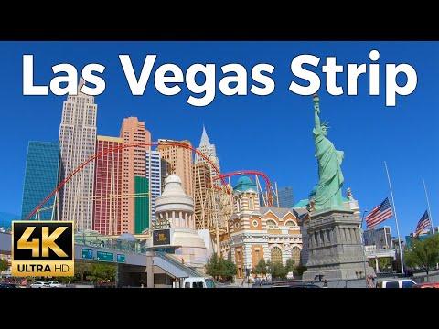 Las Vegas Strip Walking Tour (4k Ultra HD 60fps)