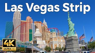 Las Vegas Strip Walking Tour (4k Ultra HD 60fps)