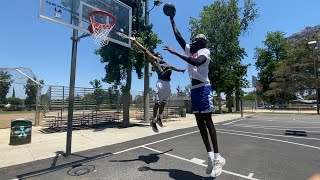 1v1 against 7'5 Giant *I DUNKED ON HIM*