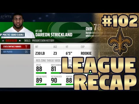 Week 13 League Recap | Madden NFL 17 New Orleans Saints Franchise Ep. 102