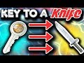 A KEY TO A KNIFE (CS GO Trade Up Gambling)
