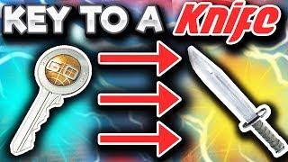 A KEY TO A KNIFE (CS GO Trade Up Gambling)