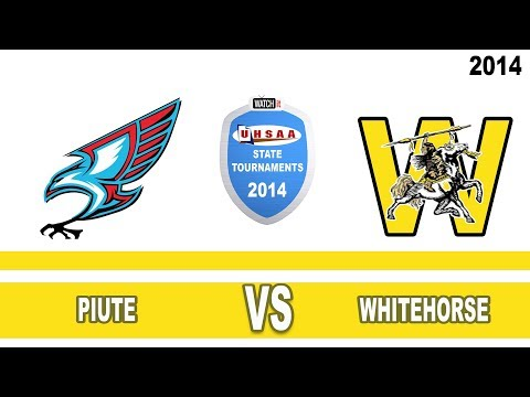 1A Volleyball: Piute vs Whitehorse High School UHSAA 2014 State Tournament Round 1