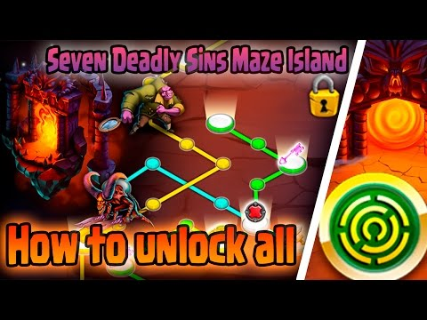 Monster Legends: Seven Deadly Sins Maze Island - Unlocking all monsters | (Getting All The Monsters)