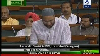 """Are Hafiz Saeed and Lakhvi on your radar"", asks Owaisi ending his speech with 'Jai Hind'"
