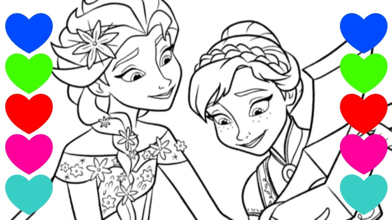 Colorindo Elsa E Ana Do Frozen