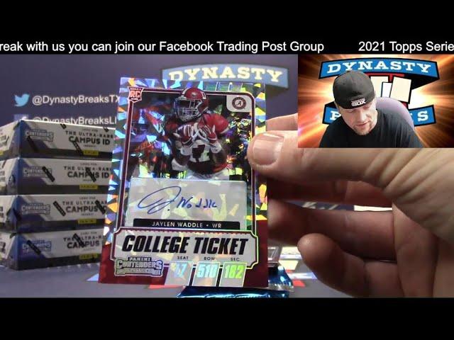2021 Contenders Draft Football Card 6 Box Half Case Break #3   Sports Cards
