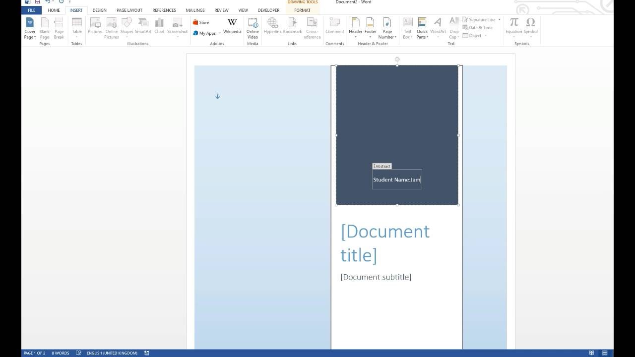 how to create a cover page in word document  2016 how to create a cover page in word document 2013