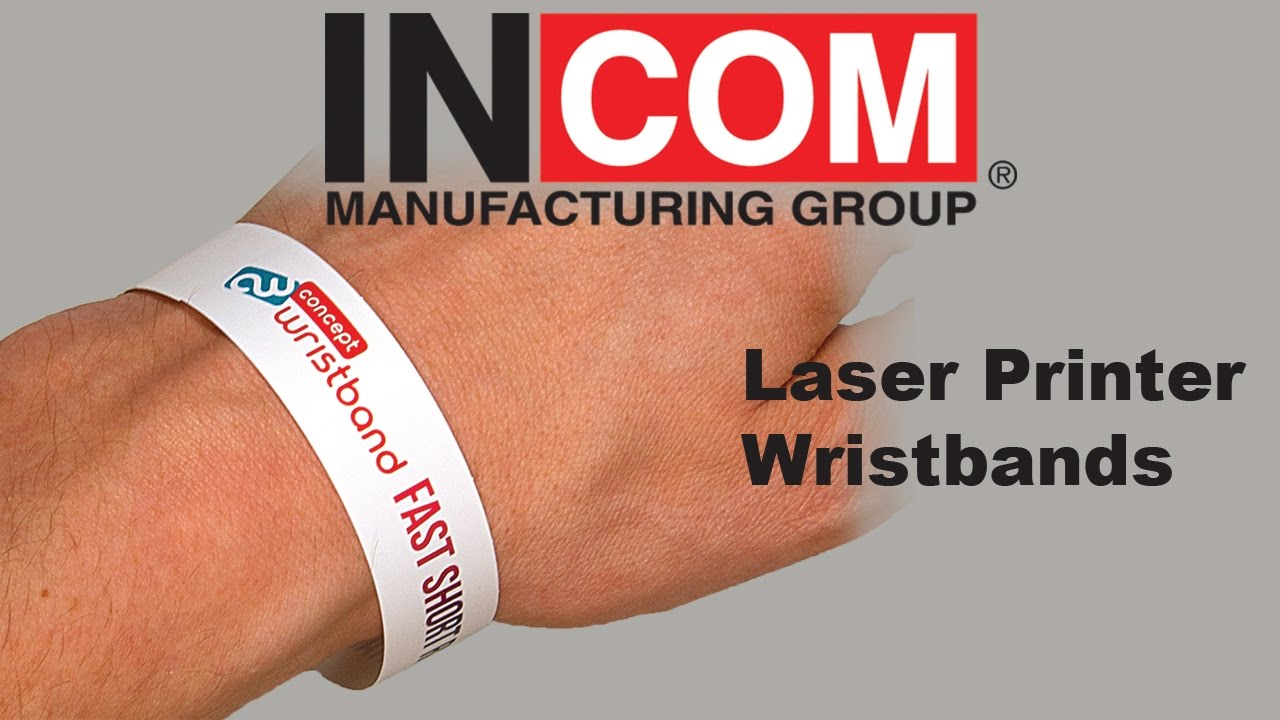 photo about Printable Wristbands identify Laser Printable Wristbands