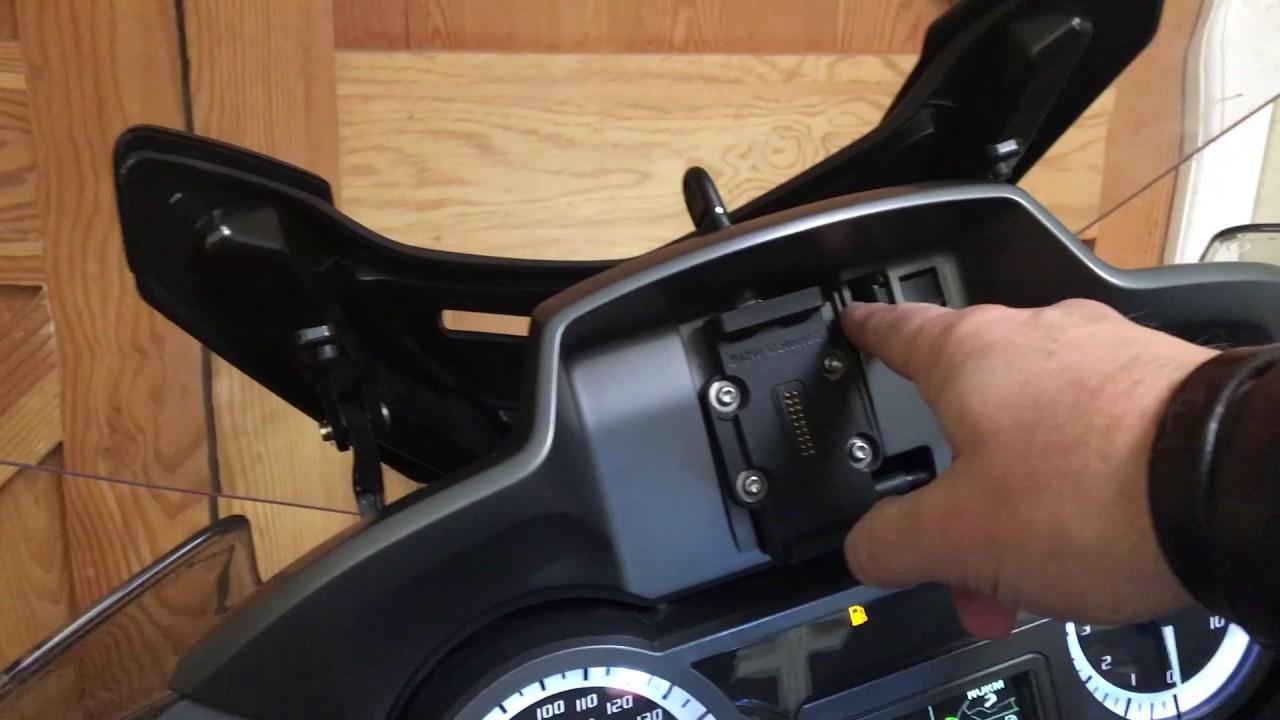 Bmw R1200rt Locking Sat Nav Mod Final Video Youtube