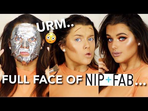 FULL FACE OF NIP+FAB MAKEUP! Okaaaay.. THEY DID THAT! | Rachel Leary