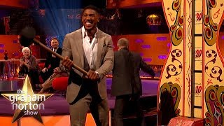 Download Anthony Joshua Tests His Strength With Hammer Game! | The Graham Norton Show Mp3 and Videos