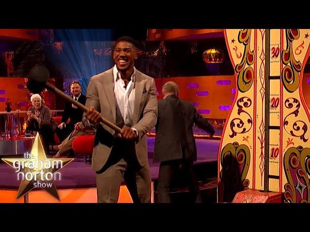 Anthony Joshua Tests His Strength With Hammer Game! | The Graham Norton Show
