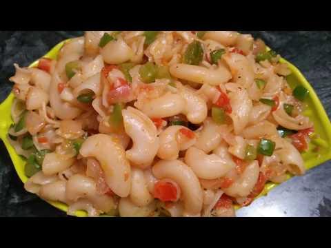 Recipe -Kids Recipe Macaroni in Shezwan sauce in Hindi l quick and easy way to make macaroni l yammy