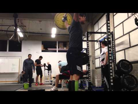 Olympic Weightlifting - Drop Snatch practice 95 lbs Nov 19, 2013