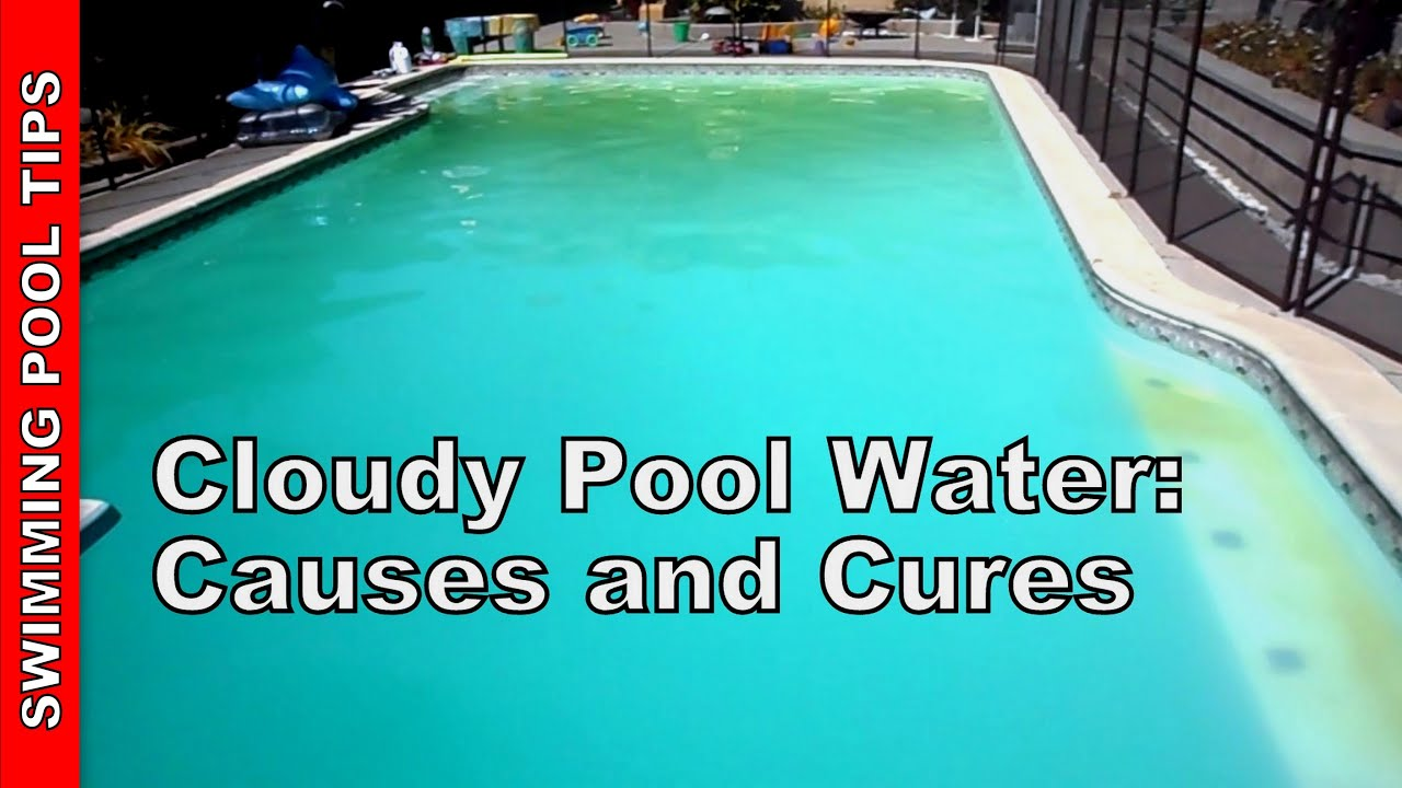 Cloudy pool water causes and cures youtube How to draw swimming pool water