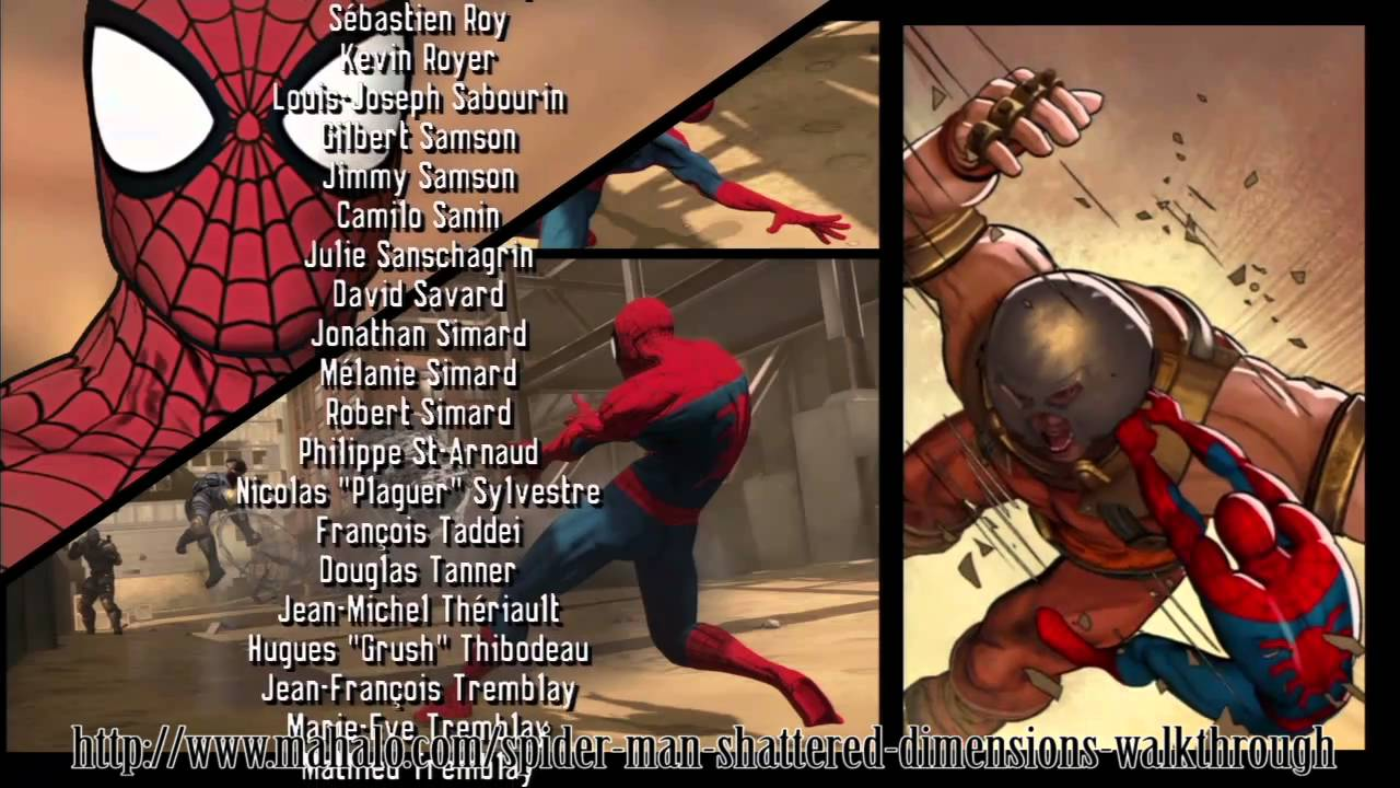 spider-man: shattered dimensions walkthrough - credits - part 1/2