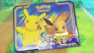 Pokemon Pikachu and Eevee Collector Chest Treasure Tin Opening!