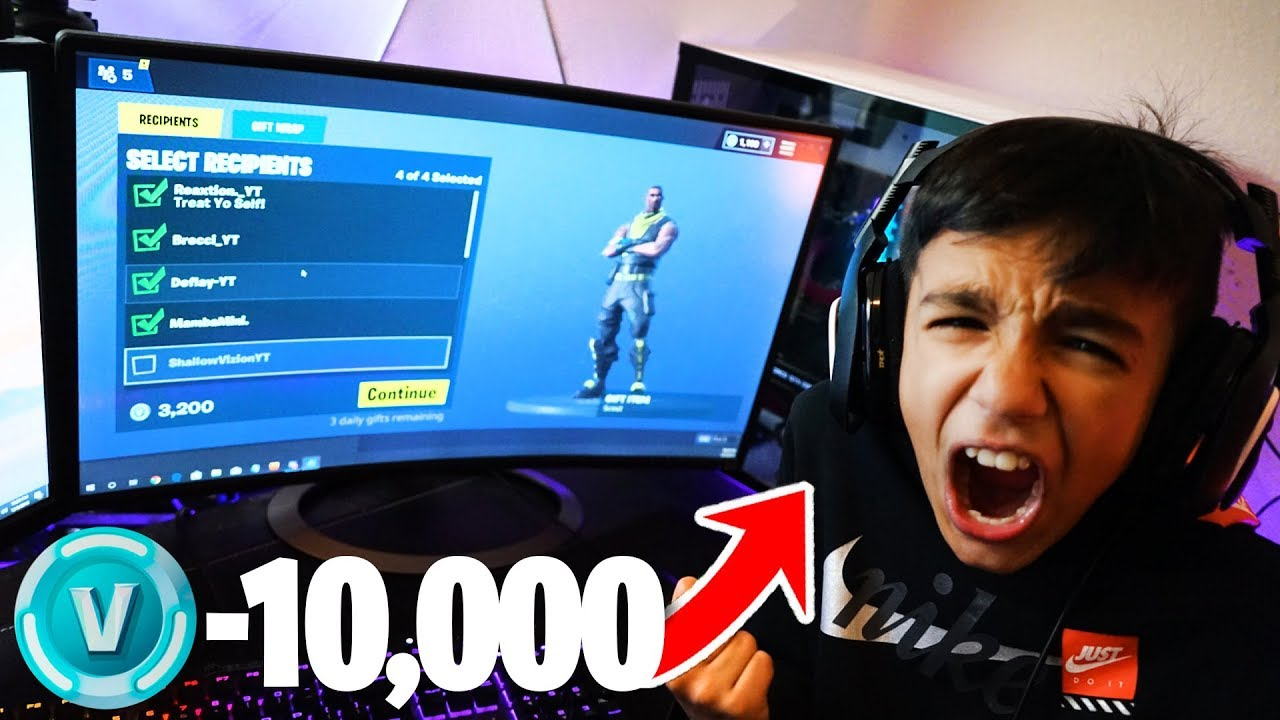 Stealing All Of My Little Brothers V-Bucks in Fortnite!