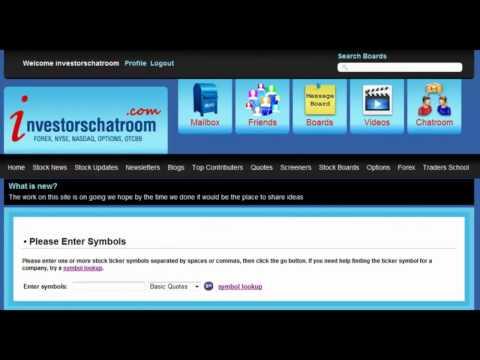 Investors Chat Room ( Stock Market ) Www.investorschatroom.com