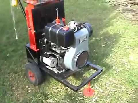 Home Made Wood Chipper - YouTube