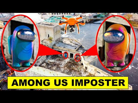 YOU WON'T BELIEVE WHAT MY DRONE CAUGHT   DRONE CAUGHT AMONG US IMPOSTOR IN REAL LIFE [MUST WATCH]  