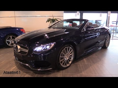 Mercedes-Benz S Class Cabriolet 2016/2017 Start Up, Exhaust Sound, In Depth Review Interior Exterior