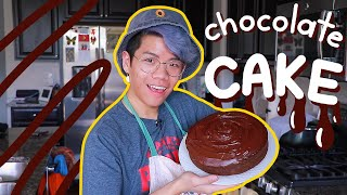 baking a chocolate cake for my dad's birthday | Frederic's Asian Kitchen