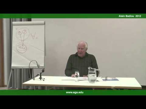 Alain Badiou. The Concept of Change: Aesthetics and Politics. 2012