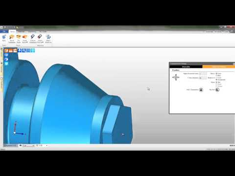 2a  Edgecam TestDrive tutorial - Load and align the solid body turning
