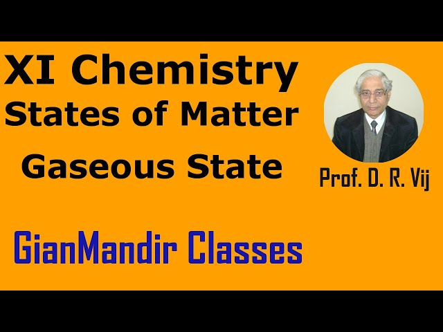 XI Chemistry | States of Matter | Gaseous State by Ruchi Ma'am