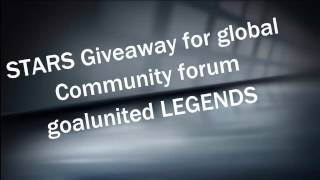 goalunited LEGENDS - Giveaway Winners (STARS for Global Community)