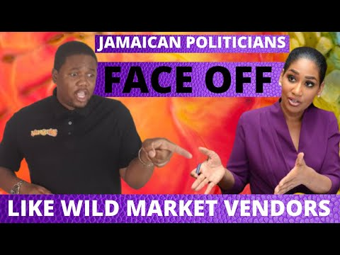 POLITICIANS WAR IN HOUSE OF PARLIAMENT JAMAICA