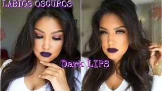 LABIOS OSCUROS maquillaje ECONOMICO/ DARK LIPS makeup tutorial| auroramakeup thumbnail