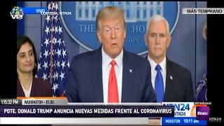 En Vivo - Pdte. Trump Anuncia Nuevas Medidas Frente Al Coronavirus En Ee.uu