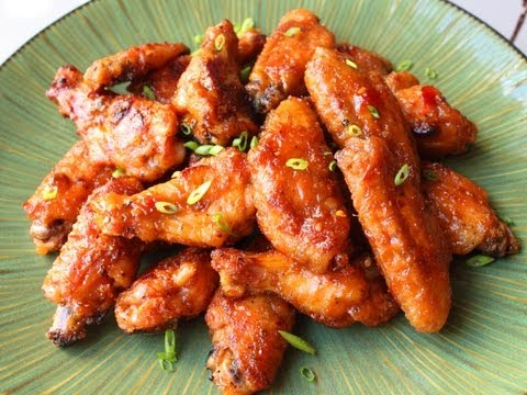 Spicy Peanut Butter & Pepper Jelly Chicken Wings - Superbowl Chicken Wings Recipe