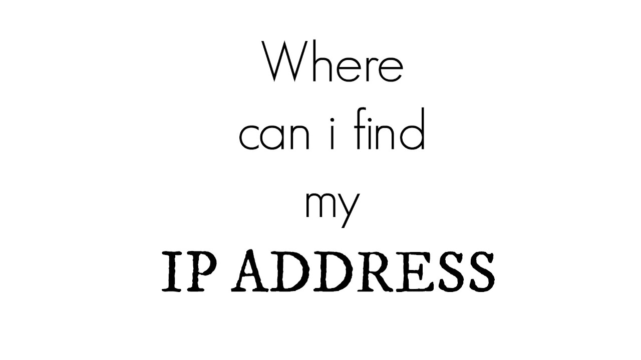 Where Can I Find My Ip Address Ipconfig Windows 10